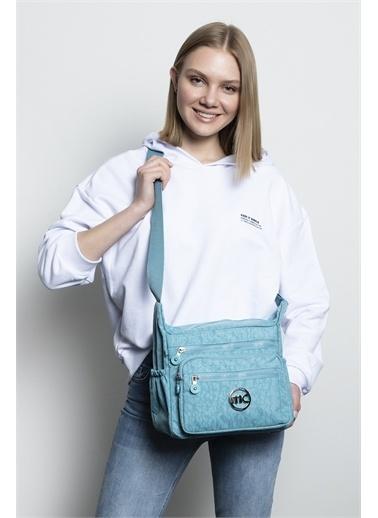 Marie Claire Postacı Çantası Mavi